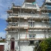 Painting a Listed building, preparatory work done to building, ready for paint. building in exmouth south devon south west